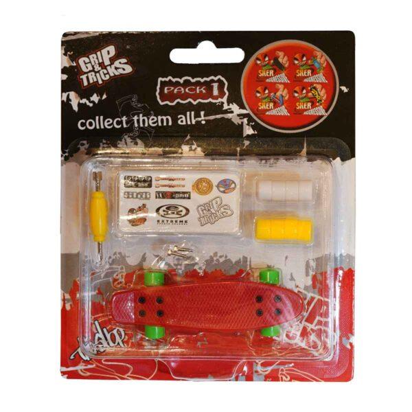 Играчка за пръсти PENNY BOARD, червен - Детски играчки - Играчки за пръсти - Фингърбордове