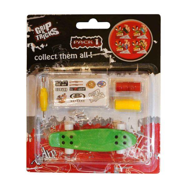 Играчка за пръсти PENNY BOARD, зелен - Детски играчки - Играчки за пръсти - Фингърбордове