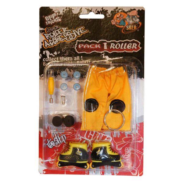 Играчка за пръсти Ролери, черни/жълти - Детски играчки - Играчки за пръсти - Фингърбордове