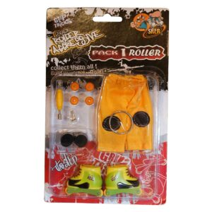 Играчка за пръсти Ролери, жълти/зелени - Детски играчки - Играчки за пръсти - Фингърбордове