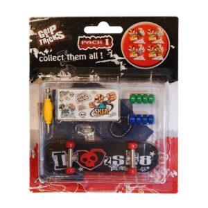Играчка за пръсти Skateboard, черен, с череп - Детски играчки - Играчки за пръсти - Фингърбордове
