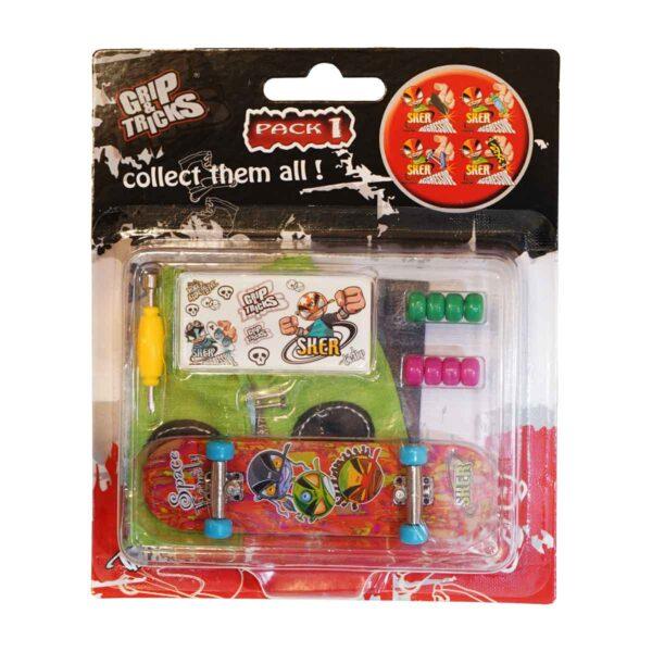 Играчка за пръсти Skateboard, червен - Детски играчки - Играчки за пръсти - Фингърбордове