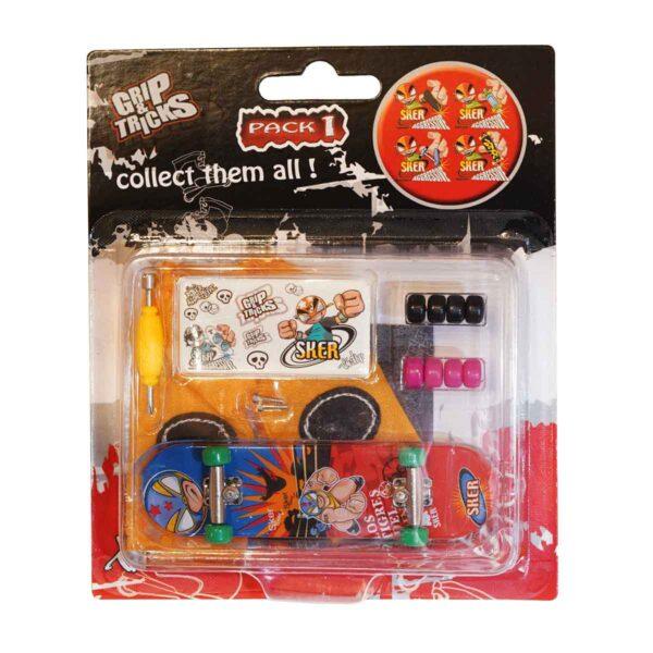 Играчка за пръсти Skateboard, червен/син - Детски играчки - Играчки за пръсти - Фингърбордове