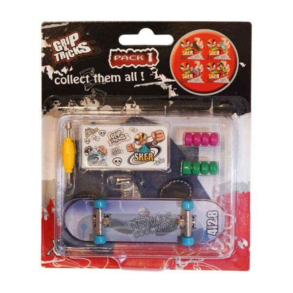Играчка за пръсти Skateboard, син - Детски играчки - Играчки за пръсти - Фингърбордове