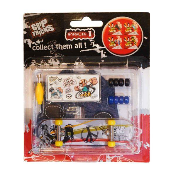 Играчка за пръсти Skateboard, сив - Детски играчки - Играчки за пръсти - Фингърбордове