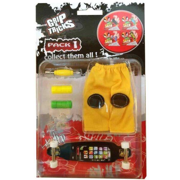 Комплект играчка за пръсти LONG BOARD, черен, с екран - Детски играчки - Играчки за пръсти - Фингърбордове