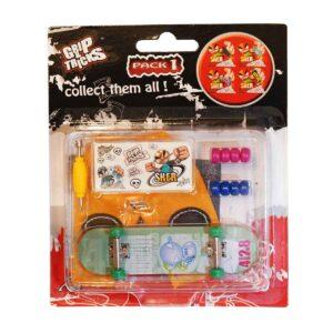 Играчка за пръсти Skateboard, тюркoаз - Детски играчки - Играчки за пръсти - Фингърбордове