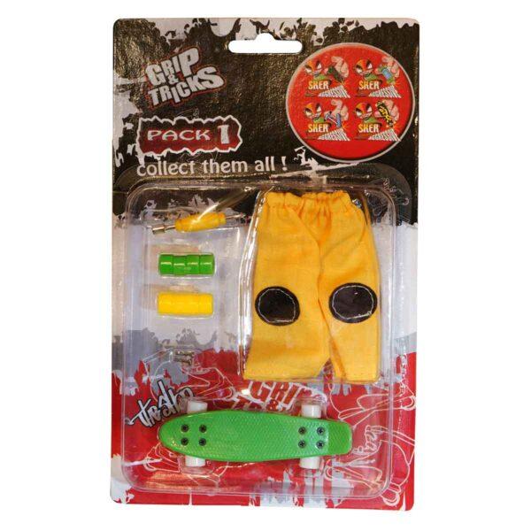 Комплект играчка за пръсти PENNY BOARD, зелен - Детски играчки - Играчки за пръсти - Фингърбордове