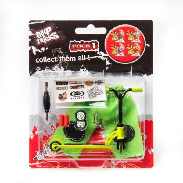 Играчка за пръсти Скутер, зелен - Детски играчки - Играчки за пръсти - Фингърбордове