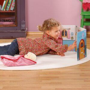 Картонена къща за игра със стикери - Детски играчки - Други занимателни и спортни играчки