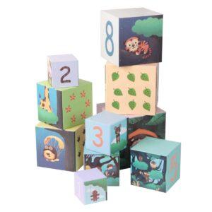 Картонени кубчета за редене - горски рисунки - Детски играчки - Дървени играчки