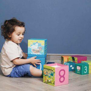 Картонени кубчета за редене - транспортни средства - Детски играчки - Дървени играчки