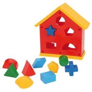 Къща с геометрични фигури - Детски играчки - Образователни играчки