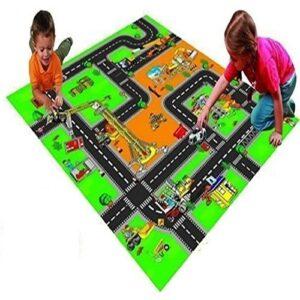 Килимче за игра - Строителна площадка - Детски играчки - Детски килими за игра