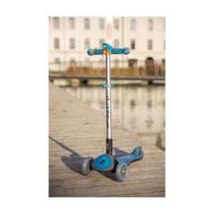 Клаксон - тромба за тротинетка или велосипед с LED фар, електронен, син - Играчки за навън - Аксесоари за велосипеди и тротинетки