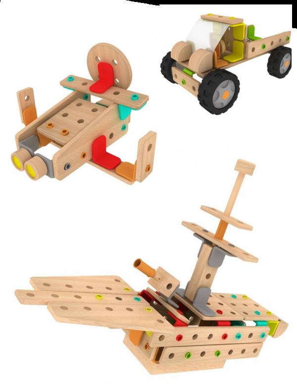 Класически дървен конструктор от 500 части - Детски играчки - Конструктори - Дървени играчки