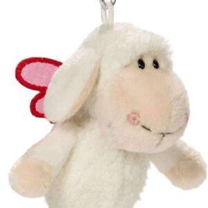 Ключодържател с овцата Jolly - Don't worry be happy - Бял 10 см. - Детски играчки - Плюшени играчки - За детето - Детски аксесоари