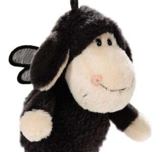 Ключодържател с овцата Jolly - Don't worry be happy - Черен 10 см. - Детски играчки - Плюшени играчки - За детето - Детски аксесоари