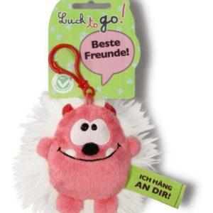 Ключодържател Таласъм розово/бяло 10 см. - Детски играчки - Плюшени играчки - За детето - Детски аксесоари