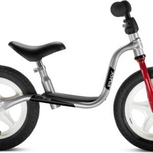 Колело за баланс за деца над 3 години PUKY LR 1L - сребристо и червено - Играчки за навън - Балансиращи колела