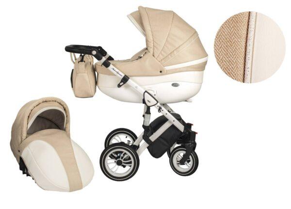 Количка Baby Merc 2 в 1 модел Style бежова - Бебешки колички - Комбинирани бебешки колички 2 в 1
