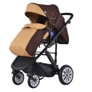 Комбинирана количка 2 в 1 Zooper Flamenco Khaki Plaid, кафява - Бебешки колички - Комбинирани бебешки колички 2 в 1