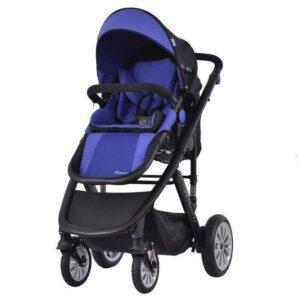Комбинирана количка 2 в 1 Zooper Flamenco Royal Blue Plaid, кралско синьо - Бебешки колички - Комбинирани бебешки колички 2 в 1