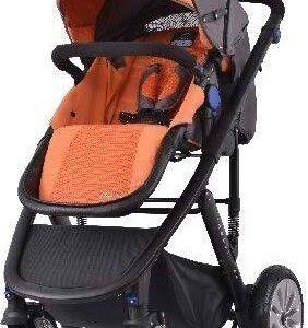 Комбинирана количка 2 в 1 Zooper Flamenco Honey Citrus, оранжево и черно - Бебешки колички - Комбинирани бебешки колички 2 в 1