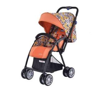 Комбинирана количка Zooper Salsa Prairie Song, оранжева на цветя - Бебешки колички - Комбинирани бебешки колички 2 в 1