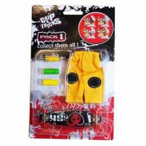 Комплект играчка за пръсти LONG BOARD, черен, с череп - Детски играчки - Играчки за пръсти - Фингърбордове