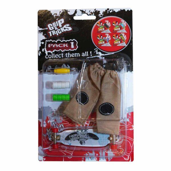 Комплект играчка за пръсти LONG BOARD, сив, с надписи - Детски играчки - Играчки за пръсти - Фингърбордове
