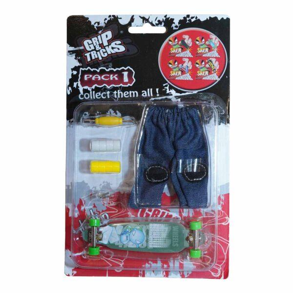 Комплект играчка за пръсти LONG BOARD, тюркоаз, с емоджи - Детски играчки - Играчки за пръсти - Фингърбордове