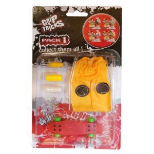 Комплект играчка за пръсти PENNY BOARD, червен - Детски играчки - Играчки за пръсти - Фингърбордове