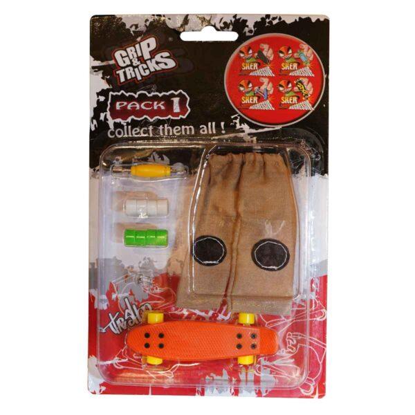 Комплект играчка за пръсти PENNY BOARD, оранжев - Детски играчки - Играчки за пръсти - Фингърбордове