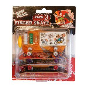 Комплект играчки за пръсти с 3 бр. скейтборди - Детски играчки - Играчки за пръсти - Фингърбордове