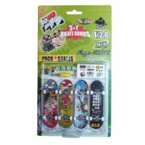 Комплект играчки за пръсти с 4 бр. скейтборди - Детски играчки - Играчки за пръсти - Фингърбордове