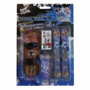 Комплект играчки за пръсти Сноуборд и ски, син и червен - Детски играчки - Играчки за пръсти - Фингърбордове