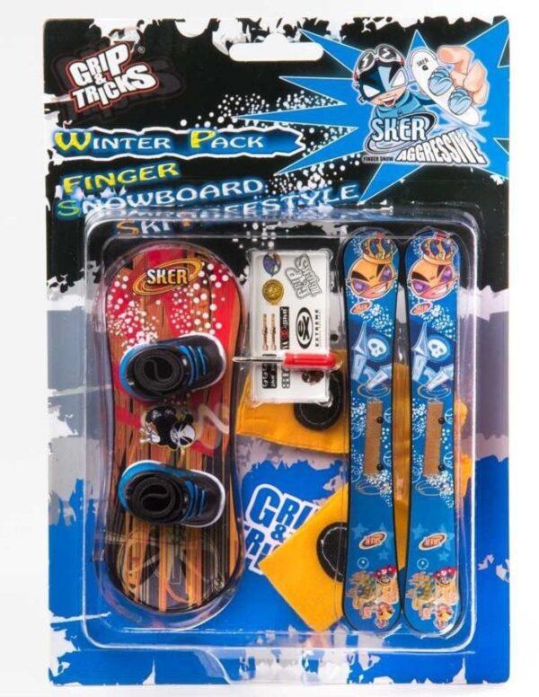 Комплект играчки за пръсти Сноуборд и ски, с щампа ''Нинджа'' - Детски играчки - Играчки за пръсти - Фингърбордове
