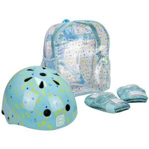 Комплект каска, наколенки и налакътници за момче - тюркоаз - Играчки за навън - Протектори - каски, налакътници, наколенки