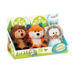 Комплект от три играчки - Таралеж, Лисица, Бухaл - Детски играчки - Плюшени играчки