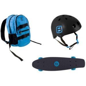 Комплект раница + каска + скейтборд, Funbee - Играчки за навън - Скейтборд за деца - Протектори - каски, налакътници, наколенки