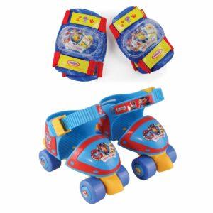 Комплект ролкови кънки, наколенки и налакътници Пес Патрул, размер 24-29 - Играчки за навън - Ролери и ролкови кънки - Протектори - каски, налакътници, наколенки - PAW Patrol