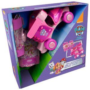 Комплект ролкови кънки, наколенки и налакътници Скай, Paw Patrol - Играчки за навън