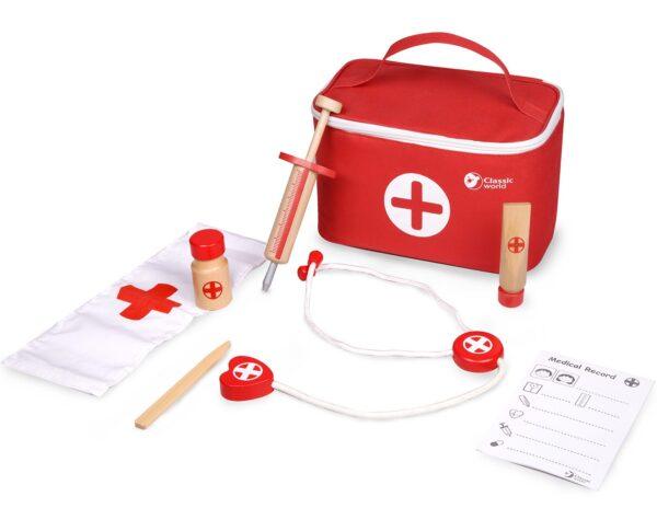Комплект за игра - Докторско куфарче - Детски играчки - Образователни играчки - Дървени играчки