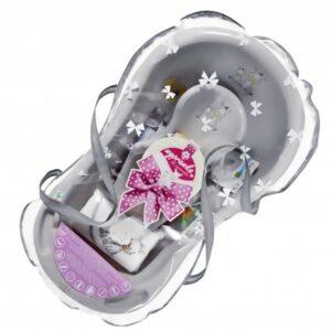 Комплект за къпане за новородено сив - За бебето - Детски и бебешки аксесоари за баня - Вани и корита за къпане