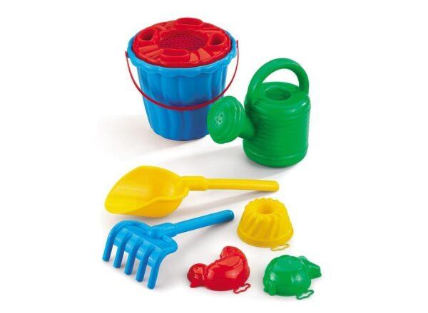 Комплект за плаж Кая с лейка - Детски играчки - Играчки за пясък