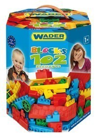 Конструктор от 102 елемента в кутия - Детски играчки - Конструктори