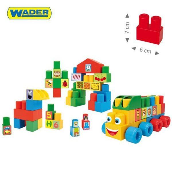Конструктор с големи части за малки деца от 70 части - Детски играчки - Конструктори