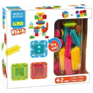 Конструктор SEEK'O 75 части + 3 светещи - Детски играчки - Конструктори