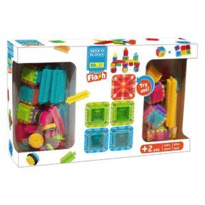 Конструктор SEEK'O 90 части + 5 светещи - Детски играчки - Конструктори